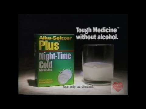 Alka Seltzer Plus Night Time Cold | Television Commercial | 1992