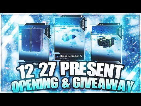 12/27 PRESENTS OPENING! XL PRESENT GIVEAWAY! Madden 19 Ultimate Team Present Opening!