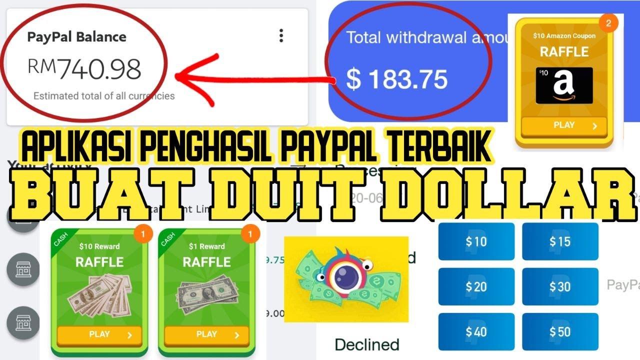 CARA BUAT DUIT PAYPAL RM784/184USD DOLLAR TANPA MODAL