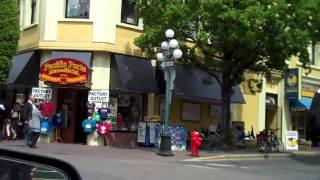 Driving through Downtown Victoria,BC