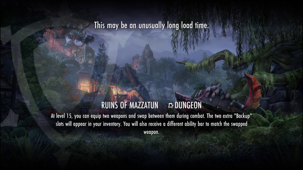 #ESO #GLITCH 6 minute load screen into dungeon