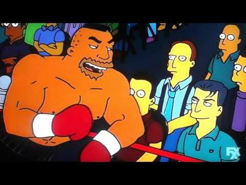 Homer Simpson vs Drederick Tatum, Mike Tyson