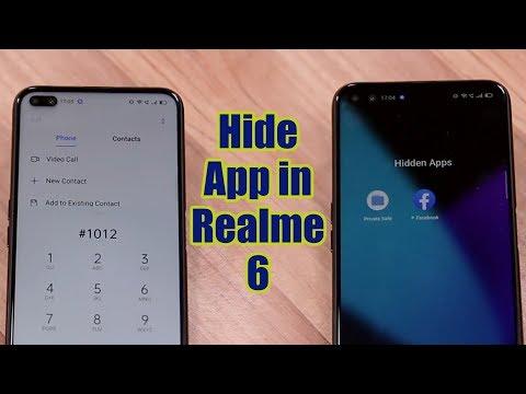 How to hide app in Realme 6 l Realme 6 Pro