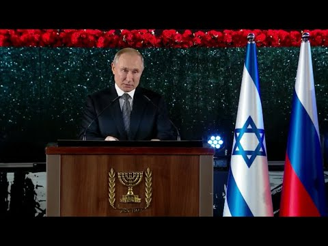 Putin wird bei Enthüllung des Denkmals für Opfer der Leningrader Blockade in Israel emotional