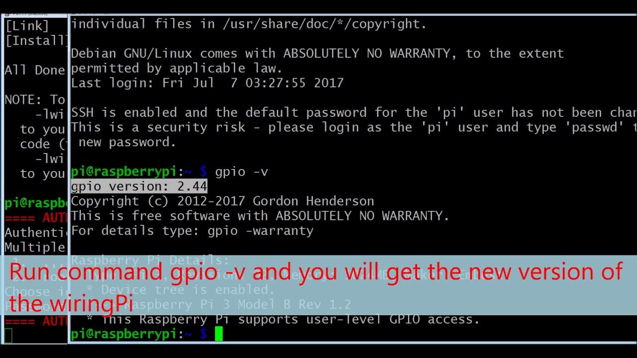 Lesson 3 Prepare Gpio Tool Wiringpi Utility Youtube Python Serial Example