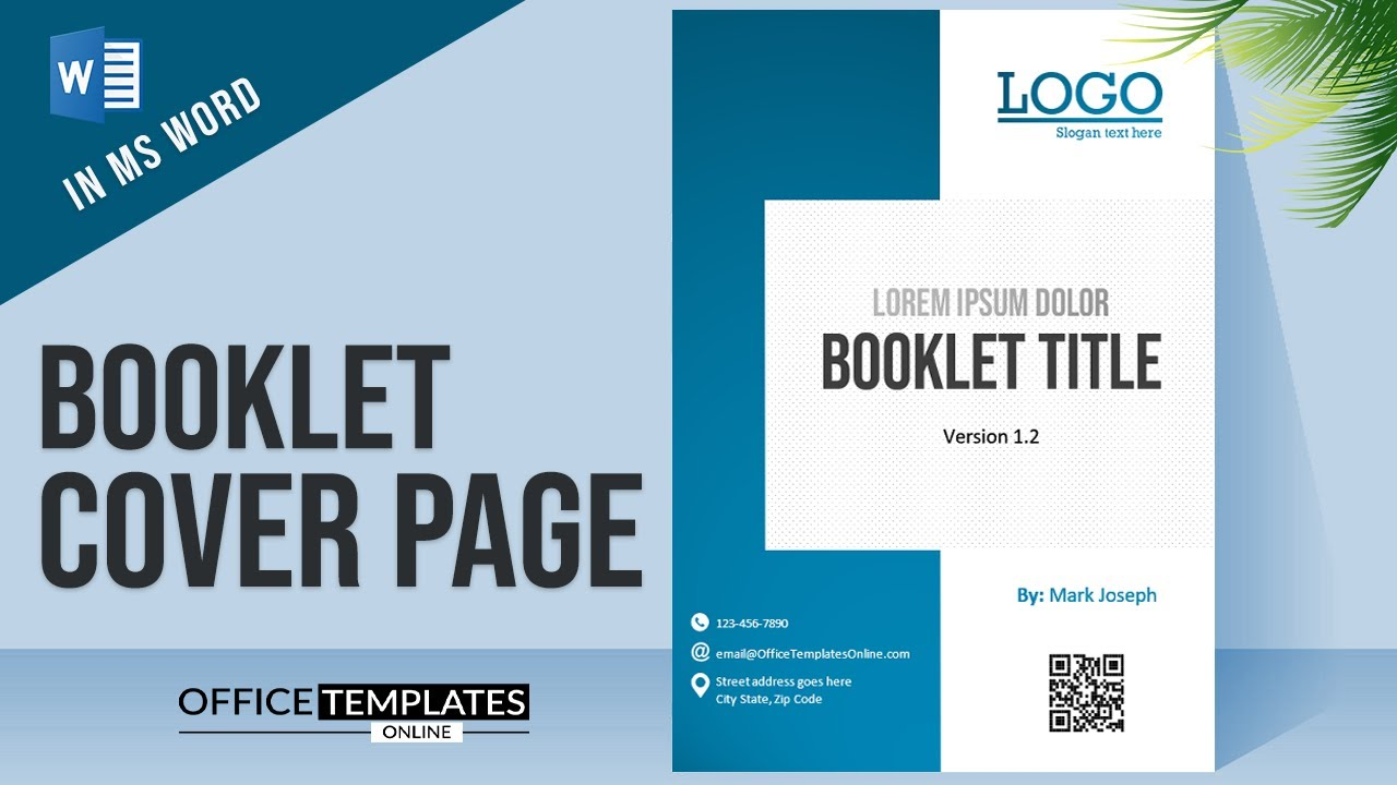 How to Create Booklet Cover Page Design in MS Word  Microsoft Word DIY  Tutorial Pertaining To Cover Pages For Word Templates