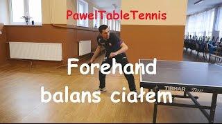 Forehand balans ciałem - Tenis Stołowy