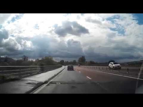 Drive From Perth To Junction To Bishopbriggs Scotland