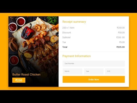 Payment Page Design HTML & CSS3 हिंदी में