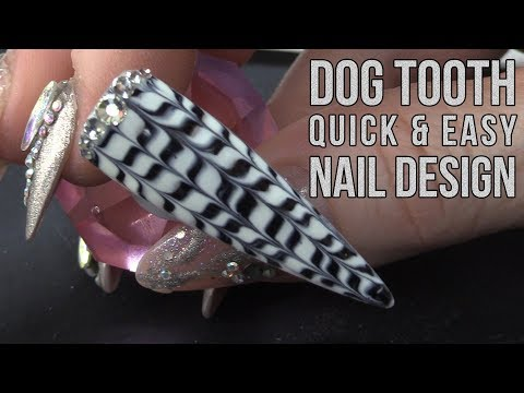 HOW TO DO A DOGTOOTH NAIL DESIGN - QUICK & EASY TUTORIAL from YouTube · Duration:  10 minutes 18 seconds