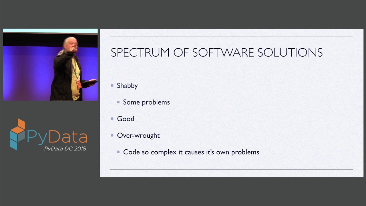 Image from Keynote: A Sailor's View of Python And the idea of