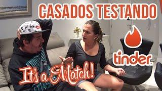 CASADOS TESTANDO O TINDER (DEU RUIM)