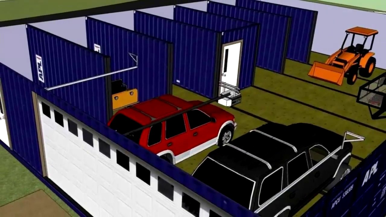 shipping container home 2 car garage - shipping container ...