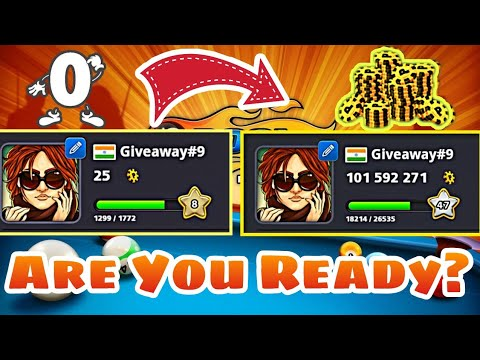 8 Ball - 25 Coins To 100 Million Coins Without Taking Break + Giveaway Winners Announced |