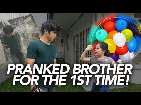 Water Balloon Prank On Brother | Ranz and Niana