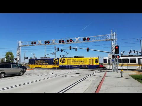 Sacramento Light Rail Coming Out Of Tail Track, CRC Entrance Crossing, Sacramento CA