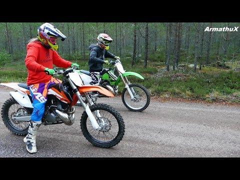 KTM SX250 vs Kawasaki KX250