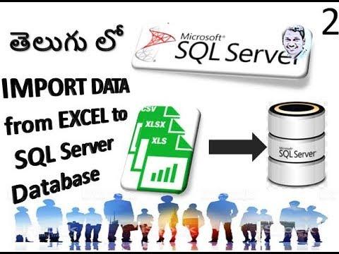SQL in Telugu:How to Import Data to SQL Server