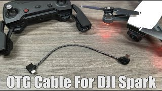 DJI Spark OTG Cable Setup for iPhone