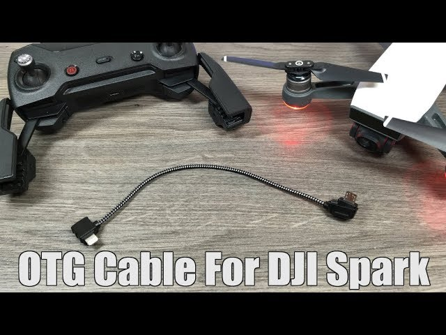 Dji Spark Otg Cable Setup For Iphone Youtube