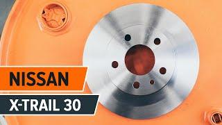 NISSAN X-TRAIL (T30) hátsó és első Fékbetét szerelési: ingyenes videó