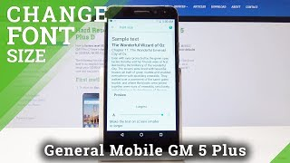 How to Change Font Size in General Mobile GM 5 Plus D Set Up Display Size