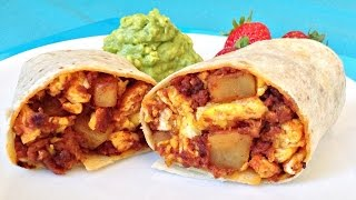 Potato Chorizo Burritos - When You're Hangry Recipe!