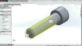 tutorial solidwork membuat baut (bolt)