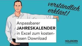 Excel: Jahreskalender 2019 und weitere Jahre inkl. Ferien, Feiertagen und Geburtstagen zum Download