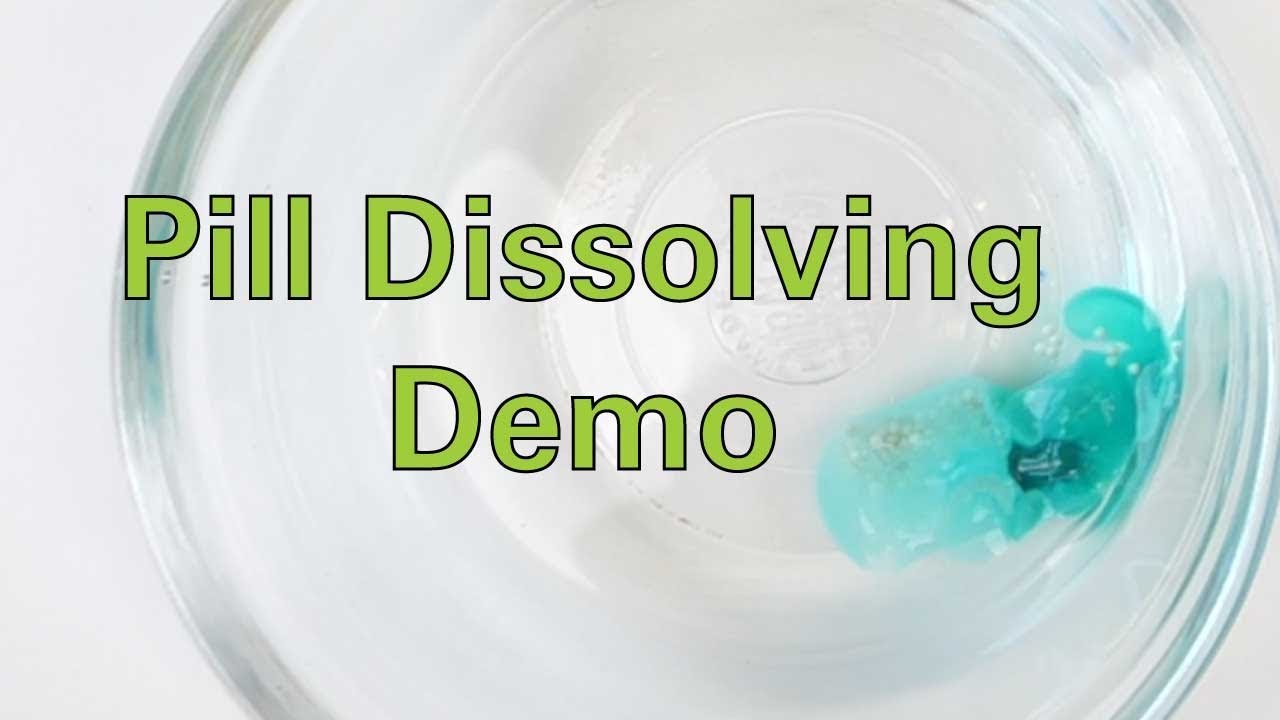 Pill Dissolving Demo - Activity - TeachEngineering