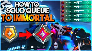 How to SOLO QUËUE to IMMORTAL in Valorant - RANKED TIPS AND TRICKS