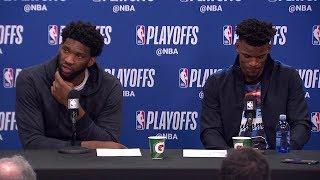 Joel Embiid & Jimmy Butler Postgame Interview - Game 6 | Raptors vs 76ers | 2019 NBA Playoffs