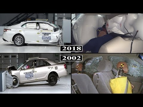 Toyota Camry - Safety Evolution From 2002 to 2018 / crash tests and rating