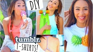 Easy and Quick DIY T Shirts Inspired by Tumblr Photos! ☼ | MyLifeAsEva thumbnail