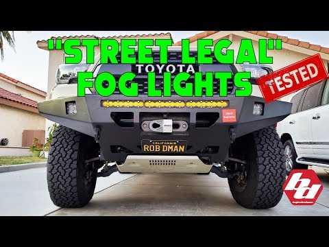 Baja Designs New SAE Street Legal Fog Lights Tested !!!