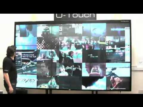 """Interactive Wall U-Touch 138"""" Video Wall Interactive Screen"""