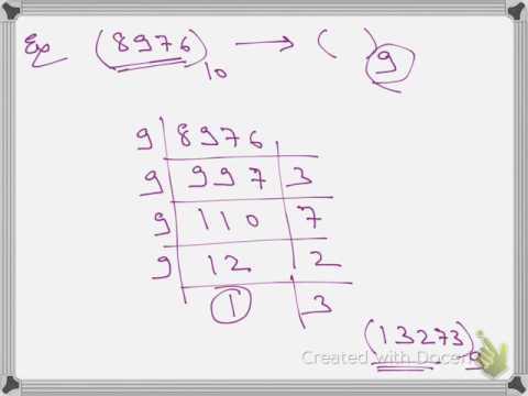 NUMBER SYSTEM - BASE SYSTEM - PART 97