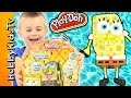 Play Doh SPONGEBOB SQUAREPANTS Classic Toy  Box Open Fun Review HobbyFrog HobbyKidsTV MP3