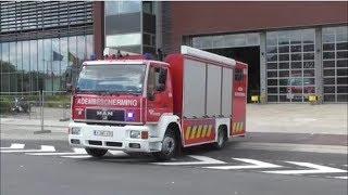 Rampenfase - Brandweer met spoed naar een nikkelsulfide brand Antwerpen-Haven.