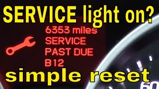 How to reset the service light on Acura TL 09 , 2010 , 2011 , 2012