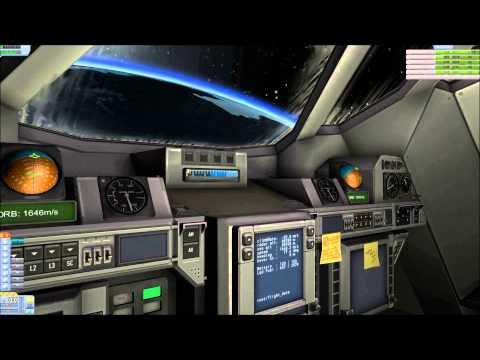 Orbiting a SpacePlane from IVA - Kerbal Space Program