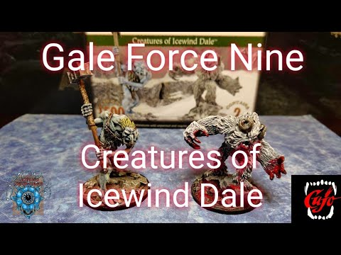 Dungeons And Dragons Creatures Of Icewind Dale Ice Troll And Yeti Miniatures From Gale Force Nine.