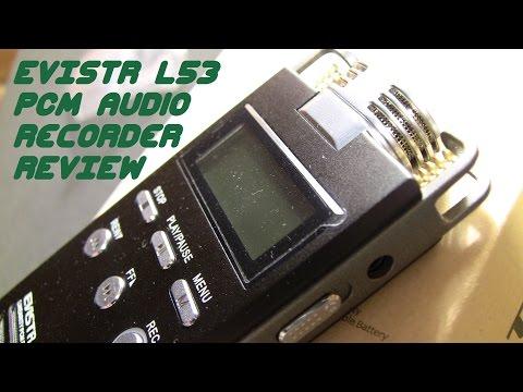 EVISTR L53 Digital PCM Field Audio Recorder Review & Sound Demonstration