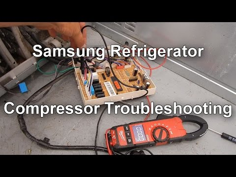 Samsung Refrigerator Not Cooling - Testing the Compressor Relay
