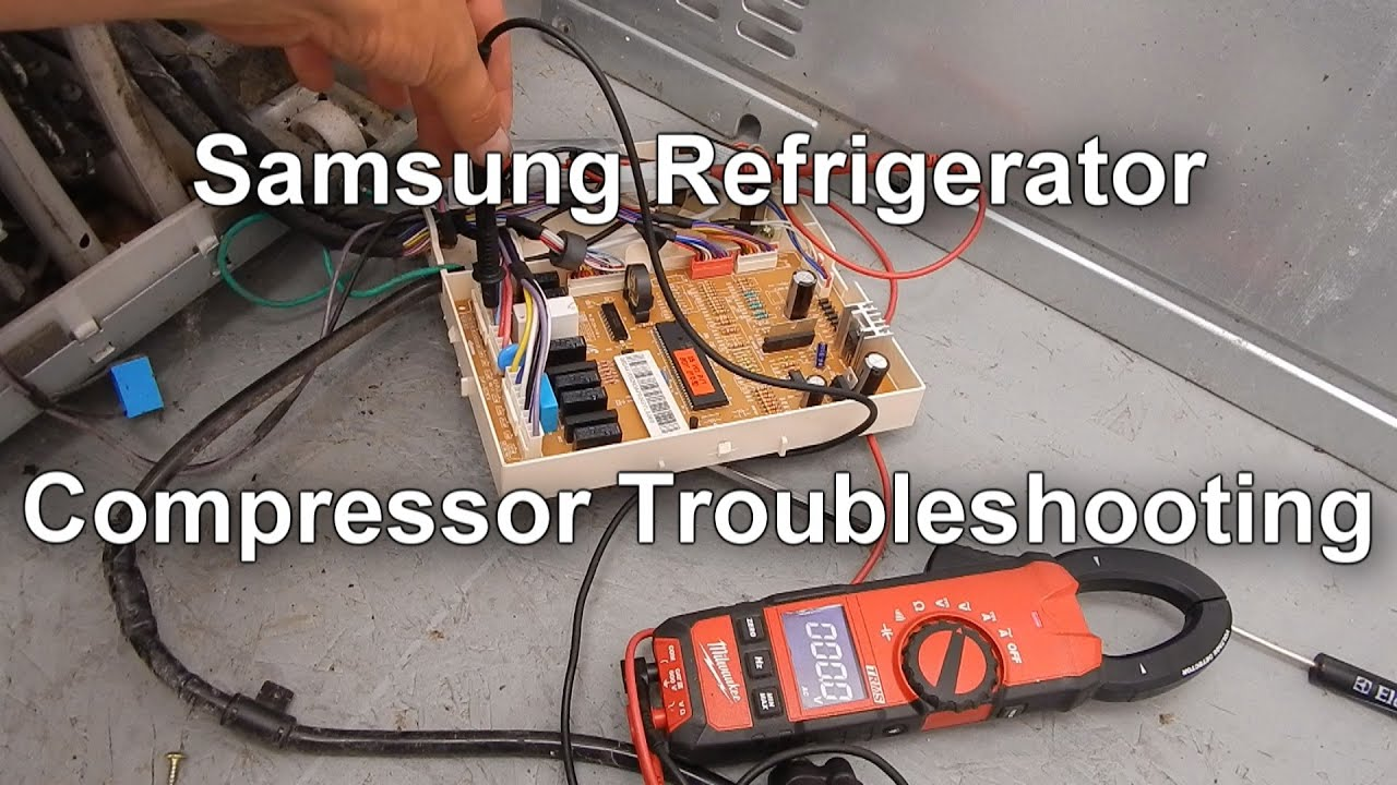 samsung refrigerator not cooling testing the compressor relay [ 1280 x 720 Pixel ]