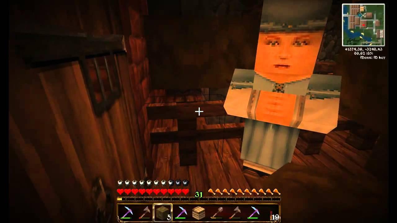 Minecraft LP DE P S Dorfbewohner Schieben YouTube - Minecraft spiele schieben