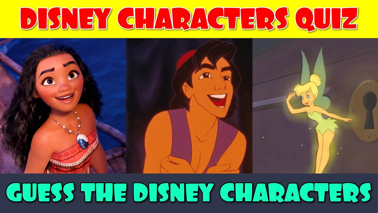 Guess the Disney Characters Quiz (Part 2)