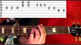 Guitar Lesson - BEACH BOYS - Help Me Rhonda - With Printable Tabs