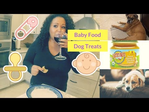 DIY Easy Homemade Baby Food Dog Treats | Life Of A Pet Sitter