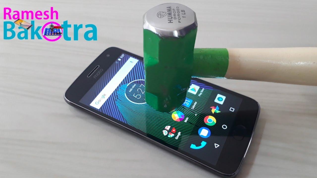 Moto g5 Plus Screen Scratch Test Gorilla Glass 3